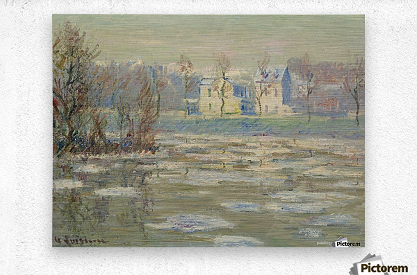 The Oise at Winter  Metal print