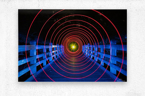 Space-Time Anomaly  Metal print