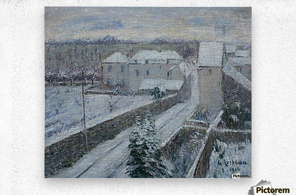 View of Triel under the Snow  Metal print