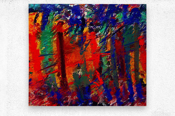 NKL abstract-101  Metal print
