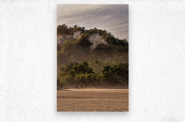 Hot day at the Bluffs  Metal print