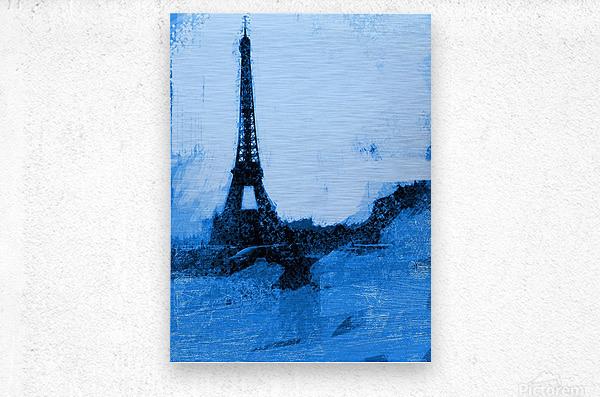 Paris Icon in Cyan  Metal print
