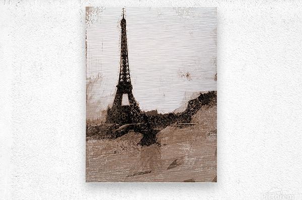 Paris Icon in Sephia  Metal print