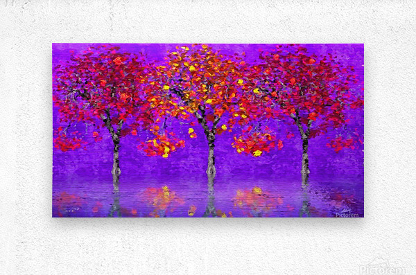 When autumn leaves start to fall  Metal print