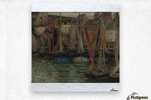 Boats at Treport  Metal print