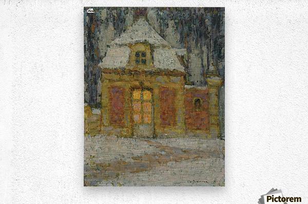 Snow, Versailles  Metal print