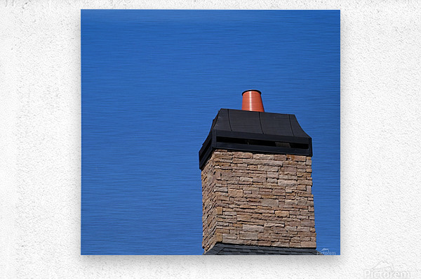 Stone Chimeny with Metal Cap  Metal print