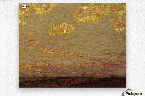 Sunset at Gerberoy  Metal print