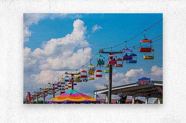 Skylift Over Cumming Fair  Metal print