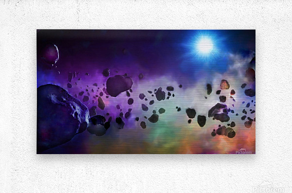 An Asteroids Point of View  Metal print