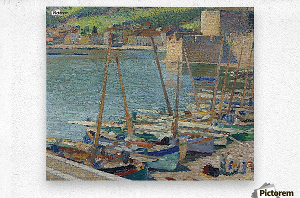 Fishing Boats on the Shore at Collioure  Metal print