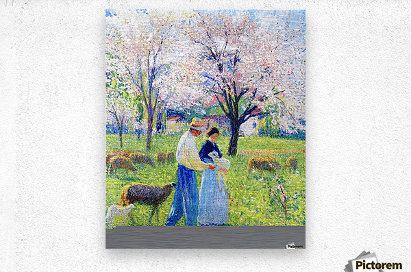 Lovers at Spring  Metal print