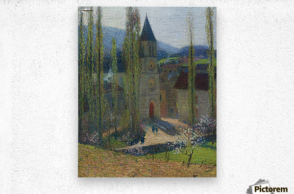 The Church of Labastide-du-Vert, Late Afternoon  Metal print