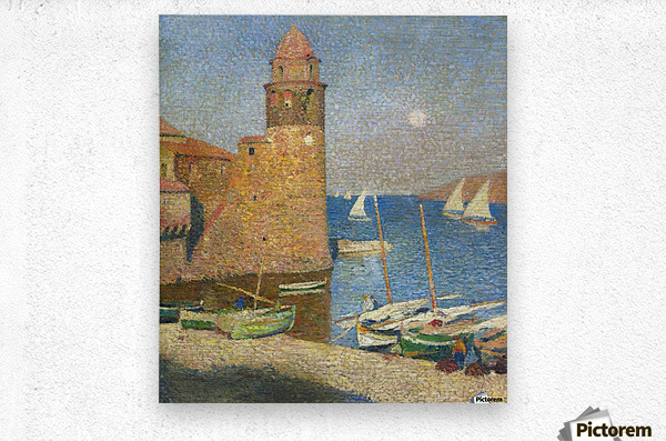 The Tower of Collioure under the Rising Moon  Metal print