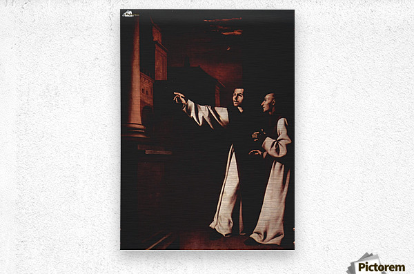 The Vision of Fray Pedro de Salamanca  Metal print