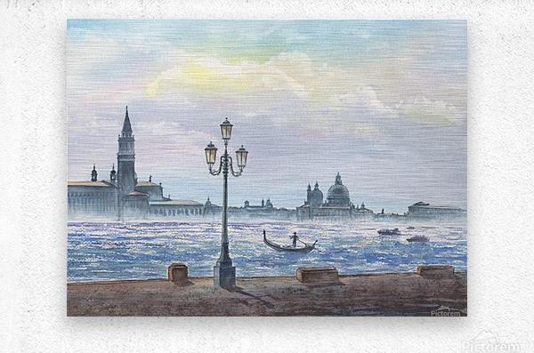 Basilica Di San Giorgio Maggiore And Santa Maria Della Salute Venice Italy  Metal print