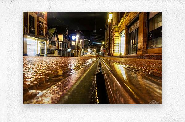 Wet tram rail  Impression metal