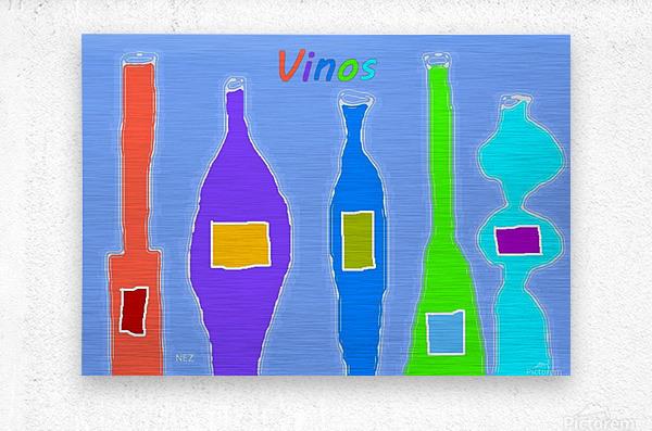 Vinos  Metal print