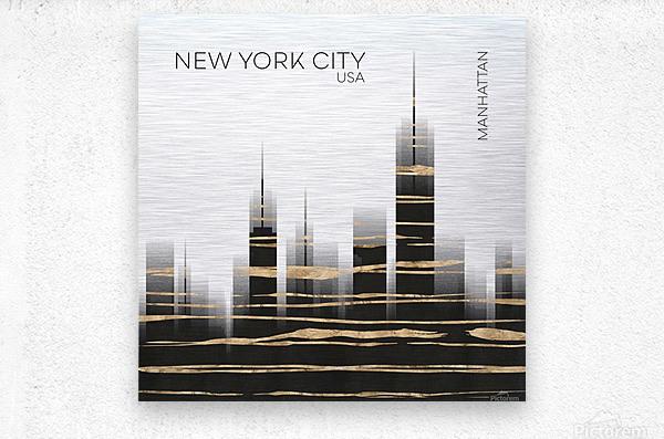 Urban Art NYC Skyline  Metal print