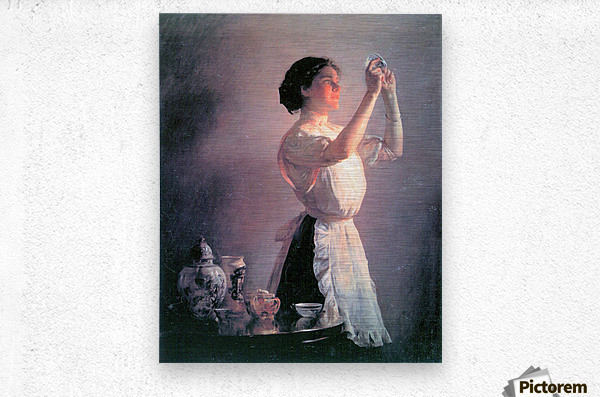 The blue cup by Joseph DeCamp  Metal print