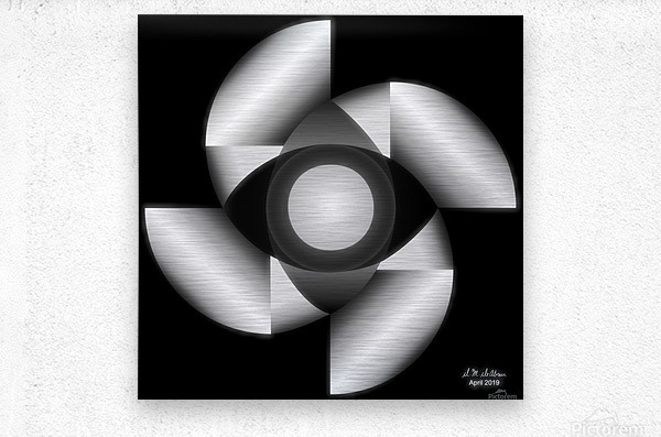 1-Golden Ratio B&W  Metal print