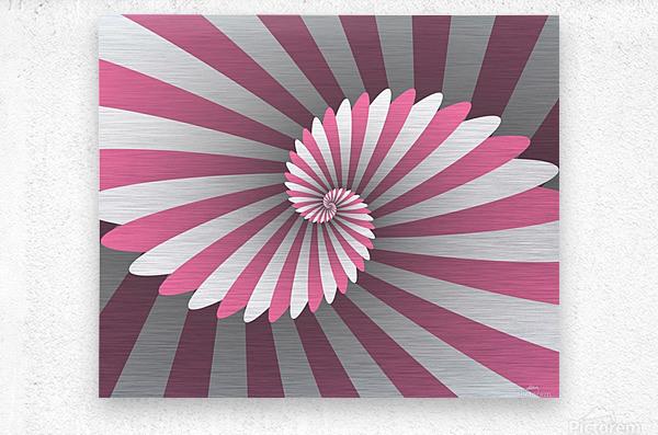 Swiggy Spiral  Metal print