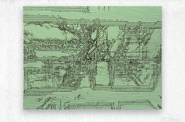 The inner courtyard  Metal print