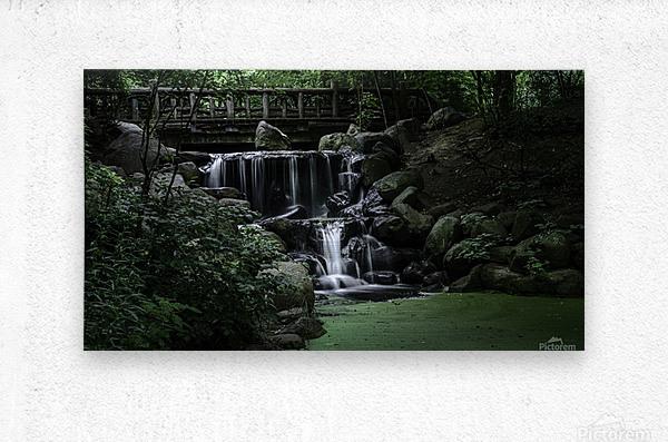 Prospect park waterfall no frame  Metal print