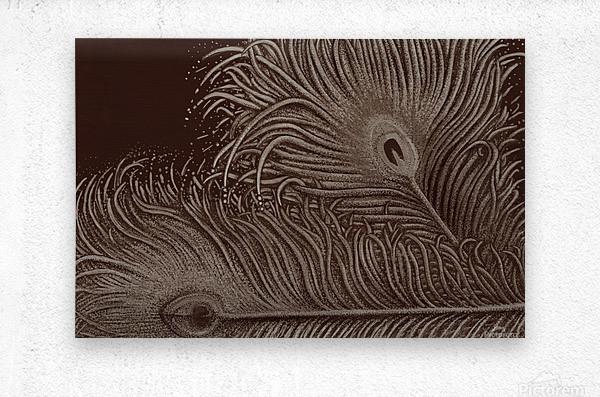 Full Bloom Sepia  Metal print