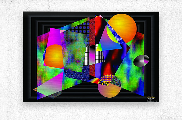 1-Intersections  Metal print
