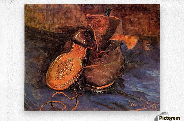 A Pair of Shoes4 by Van Gogh  Metal print