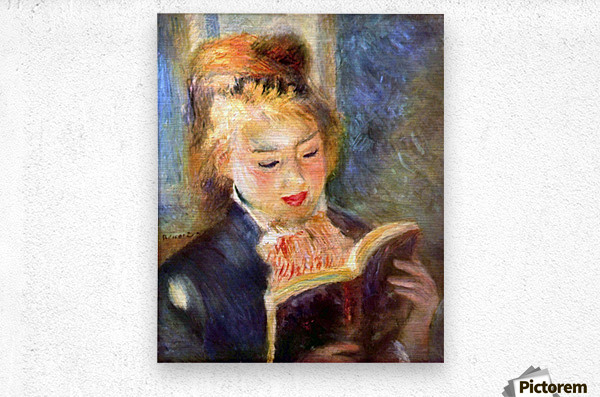 A reading girl1 by Renoir  Metal print