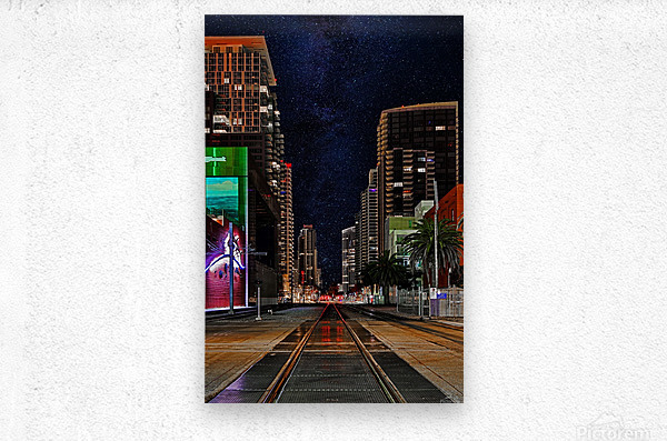 Midnight City Blues  Metal print