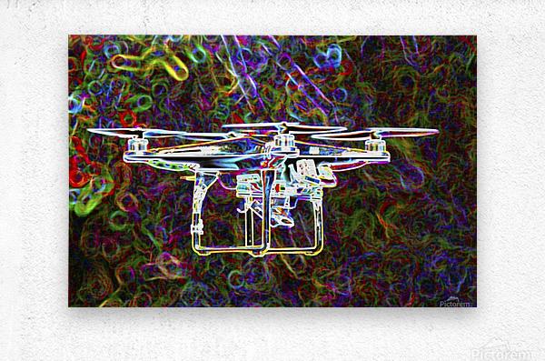 Colorful Quad Copter  Metal print