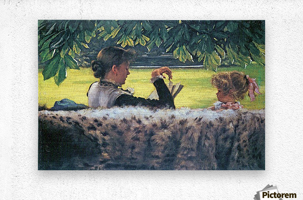 A story read by Tissot  Metal print