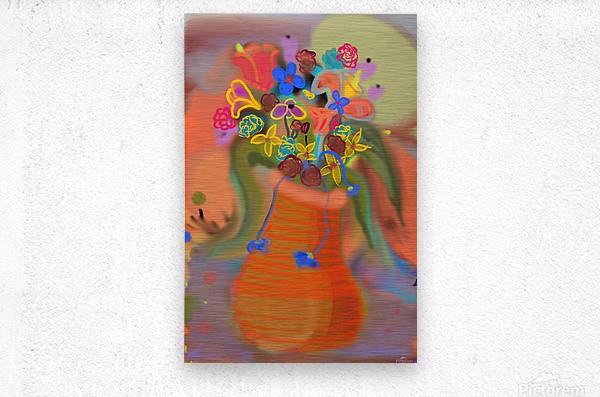 three vases (12)  Metal print
