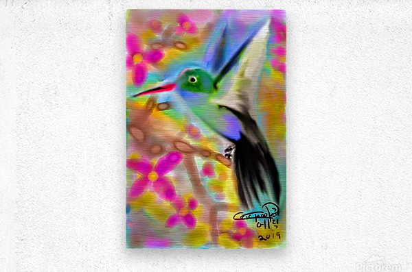 bird & tree.v2  Metal print