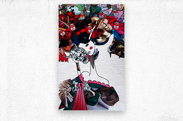 masked geisha  Metal print