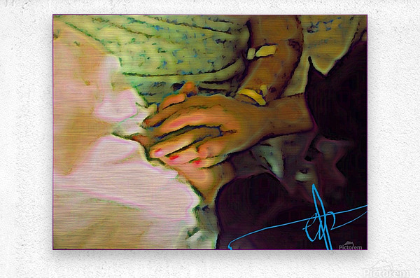 Held Your Hand Till The End  Metal print
