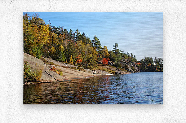 Key River Shore In Fall I  Metal print