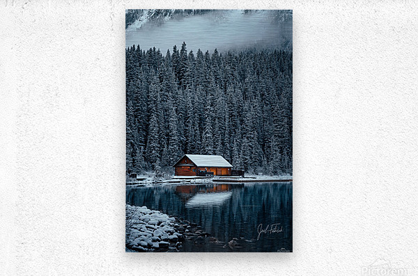 Lake Louise Cabin  Metal print