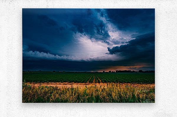 Prairie Lightning  Metal print