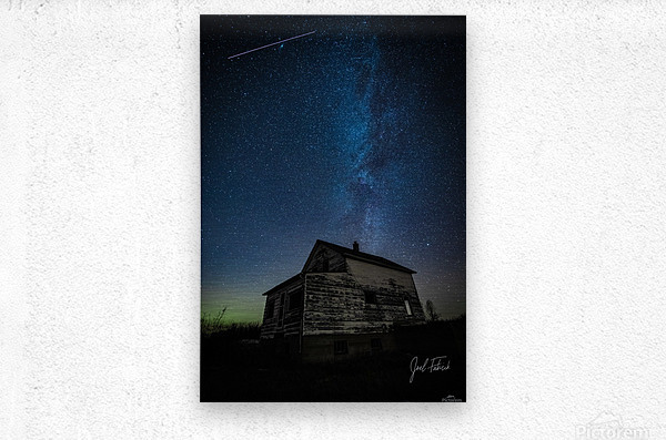 Abandoned House Milky Way   Hi Res   A3  Metal print