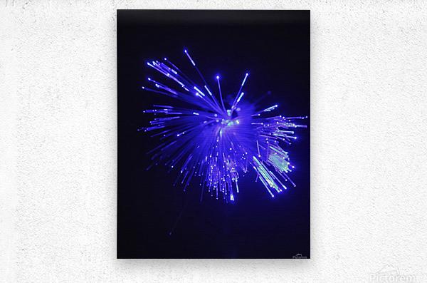 Blue Sparkle  Metal print