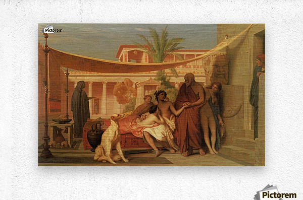 Socrates seeking Alcibiades in the House of Aspasia  Metal print