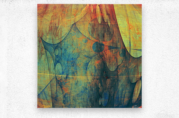 Abstract Composition 139  Metal print