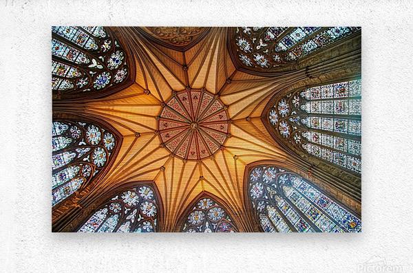 Religious Ceiling  Metal print