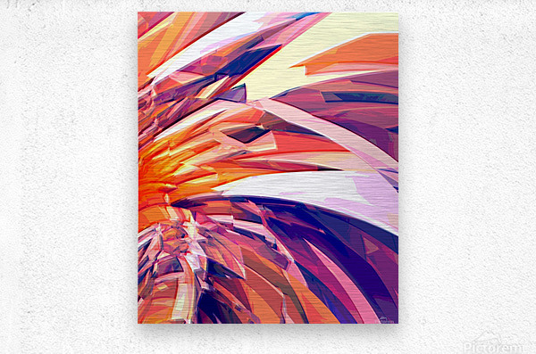 Abstract Composition 695  Metal print