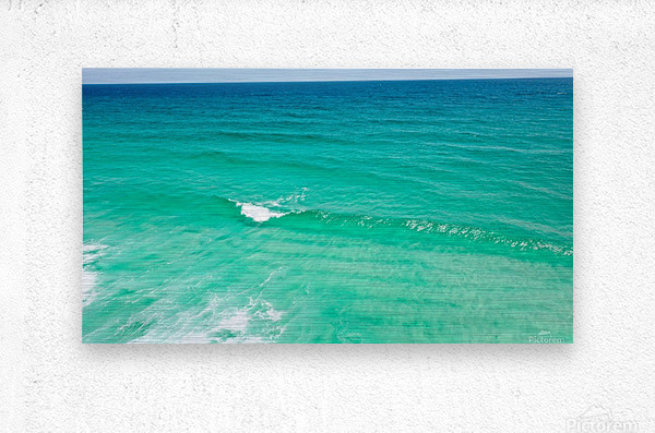 Clear Surf   Metal print