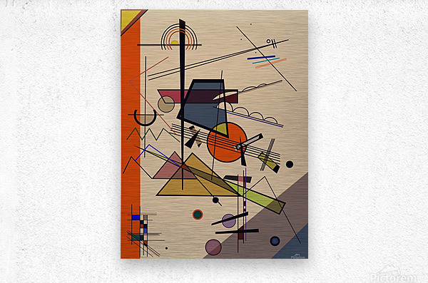 Abstract Composition 522  Metal print